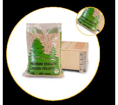 Medienos granulės